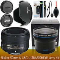 Nikon AF NIKKOR 50mm f/1.8G Lens Accessory Kit for Nikon D3300 D3200 D5300 D5200