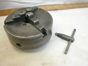 "Union Mfg Co 4"" 3 - Jaw Lathe Mill Chuck Metalworking Tool with key Machining"
