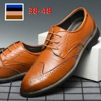 Fashion Men's Dress Shoes Formal Business Wedding Wingtip Oxford Pointed Toe New