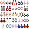 Women Acrylic Geometric Pendant Dangle Drop Statement Earrings Jewelry