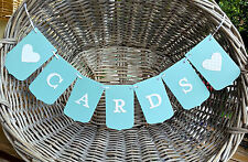 CARDS Wedding/Engagement banner pale teal -Bunting sign/garland-Wishing Well