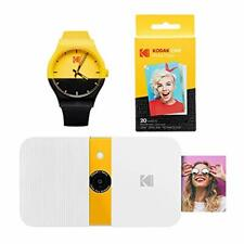 KODAK Smile Instant Print Digital Camera (White/Yellow) Watch Bundle