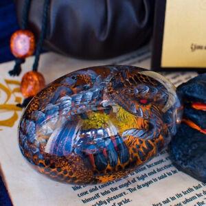 Lava Dragon Egg Dinosaur Egg Statue Crystal Gemstone Artwork for christmas gifts