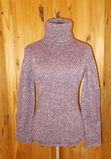 TOPSHOP purple mauve fleck poloneck fishermans jumper sweater top 8 36 TOP SHOP