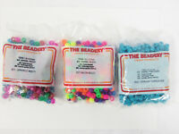 Lot of 3 Bags The Beadery 300/325 psc 6x9 mm Barrel Pony Beads Multi Colors