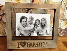 "I Love My Family Wooden Photo Picture Frame 6""x4"" Home Office Decor Gift Present"