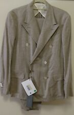 Boglioli Milano Double Breasted 100% Silk Suit Size 48 / 38 Brand New Retford