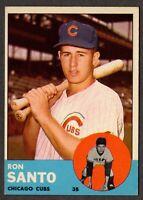 1963 Topps Baseball #252 Ron Santo Chicago Cubs - 3rd Series
