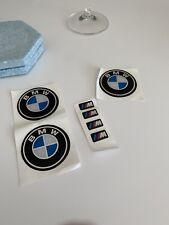BMW 52MM WHEEL Adhesive Sticker Badge X 3 Set Replacement + M Power M-Tech X4