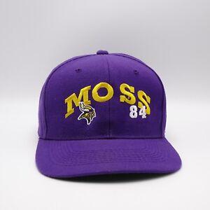 Vikings Randy Moss 84  hat - NFL Wool blend Snapback cap - vintage Made in Korea