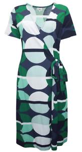 NEW Ex NEXT Green Spot Print Wrap Dress - Sizes 12 to 18