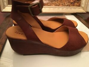 Kork ease leather  wedge  sandals size 10 M $80 -best offer sold out everywhere