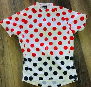 Twin Six Cycling Jersey women's white circle M Club Raglan Full Zip USA Made