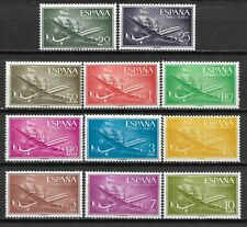 "SPAIN 1955 Complete Series 11 new stamps * . "" Air Mail ""      (7564)"