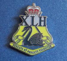 10TH LIGHT HORSE REGIMENT XLH LAPEL BADGE ENAMEL & GOLD PLATED 25MM HIGH