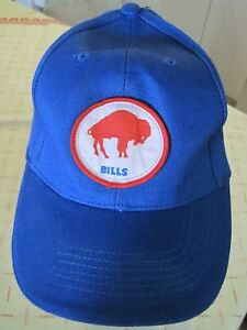 BUFFALO BILLS NFL FOOTBALL Baseball Ball Cap Blue /w Decal Great Cond
