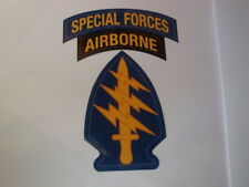 "2 SPECIAL FORCES AIRBORNE STICKERS  3.5""x 5"" USA BADGES  MILITARY UNITED STATES"
