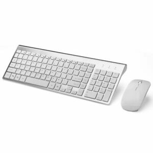 Computer Wireless Mouse and Keyboard Ergonomic Ultra-Thin Low-Noise 2.4G PC Mice