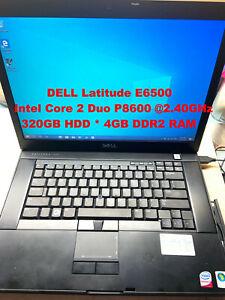 """DELL Latitude E6500_Intel Core 2 Duo P8600@2.40GHz_320GB HDD_4GB RAM_15.4""""Screen"""