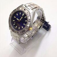 Pulsar Men's PXD681X Silver Stainless Steel Blue Dial 100m Quartz Watch