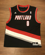 Adidas Portland Trail Blazers Damian Lillard Basketball Jersey Men's Size Large