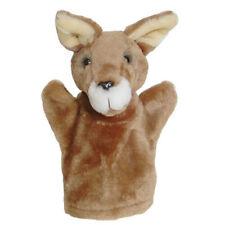 KANGAROO 25cm Kids Hand Puppet Plush Animal Zoo Glove Soft Learning Toys