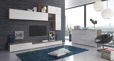 Parete attrezzata mobile porta TV sala da pranzo soggiorno bianco lucido rovere