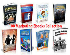 100 Marketing  Ebooks Collection 5 ¢ per eBook  with MRR
