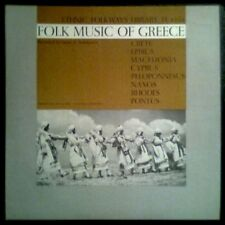 GREECE - FOLK MUSIC OF - USA LP Folkways 1955 - Near Mint / Como Nuevo - Booklet
