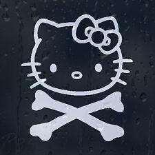 Hello Kitty Crossbones cráneo coche decal pegatina de vinilo