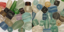 Recycled Glass Beads - Factory Scrap and Beach Glass Combo Asst. - 42+ Pieces