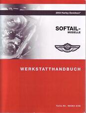 HARLEY Werkstattanleitung DEUTSCH 2003 Softail FLST FXST Buch OEM 99482-03G Neu