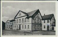 """Ansichtskarte Bad Georgenthal - Kulturhaus/Hotel """"Thüringer Wald"""" und Kino s/w"""