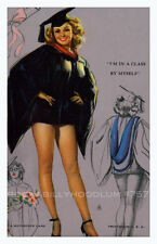 Pin Up Girl Poster 11x17 Mutoscope Card Cute Graduation Gown Long Legs