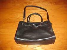 MICHAEL KORS Hamilton Soft Black Leather Purse Shoulder Hand Bag Dustcover $358