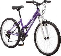 Roadmaster Granite Peak Girls Mountain Bike, 24 Wheels, Purple