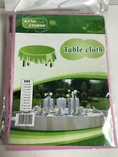 """10pcs- 54""""x108"""" Pink Tablecloth rectangle plastic wedding birthday party cover"""