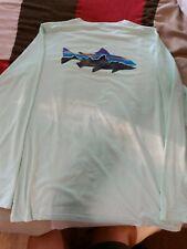 Patagonia capilele trout shirt mens large