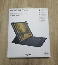 Funda con teclado Universal folio Logitech (tablet, Ipad) nueva con garantía