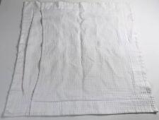 Matouk Quilted White Textured Single Pillow Sham 100% Egyptian Cotton