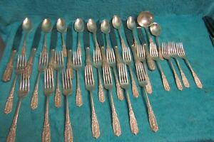 Westmorland Sterling Milburn Rose pattern 38 pieces total