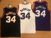 NWT #34 Charles Barkley MEN'S Phoenix Suns THROWBACK Jersey Size S-2XL