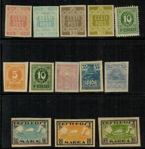 Estonia #1-4,28-36 1918-20 MLH(1-4)/MH