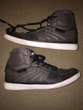 Guess MGJAIRDAN Men's Gray Boots leather Shoes 9.5 High Tops