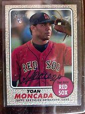 2017 Topps Heritage Yoan Moncada #YM Autograph SP Chicago White Sox Auto