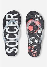 Justice Girl's Soccer Flip Flops Sandals Shoes Girl Size 12 New