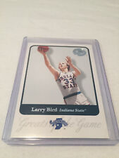 2001 Fleer Greats of the Game Basketball Larry Bird Boston Celtics #49