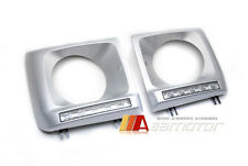 Silver Head Light Cover 5 PCS LED Daytime Running Lamp for 90-13 Mercedes W463 G