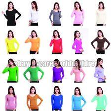 Ladies Muslim Tight T Shirt Islamic Women's Long Sleeve Tops Modal Cotton Blouse