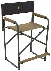 Camping Directors Chair Folding Camp Director Outdoor Tall Seat Easy Storage Joy